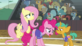 Fluttershy and Pinkie out of breath S6E18.png