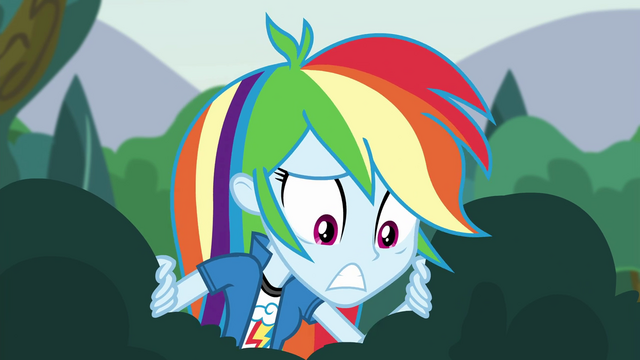 File:Rainbow Dash worriedly looks down EG3.png