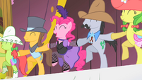 Pinkie Pie and Appleloosa Ponies Cancan S1E21