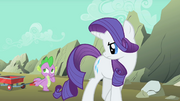 Rarity unimpressed with Spike S01E19.png