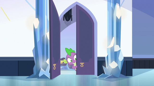File:Spike sneaking into the palace S6E16.png