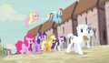 Party Favor and Double Diamond lead Mane Six S5E1.png