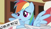 Rainbow Dash with newspaper S2E23