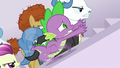 Spike racing ahead of the delegates S5E10.png