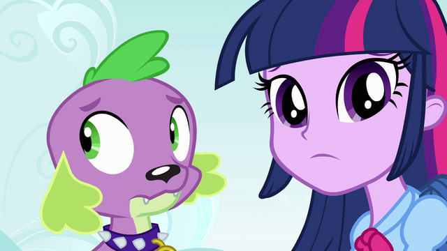 File:Twilight and Spike regard their new surroundings EG.png