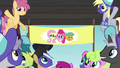 Buckball banner of Fluttershy, Pinkie, and Snails S6E18.png