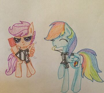 FANMADE Rainbow Dash and Scootaloo Referees