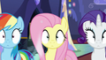 Rainbow, Fluttershy, and Rarity in a trance S6E21.png