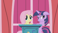 Fluttershy taking the speech S1E4