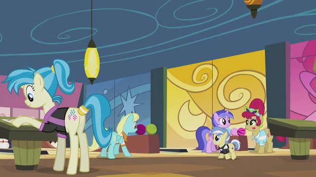 File:Several ponies at the bowling center S5E9.png