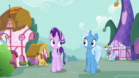 Starlight and Trixie walking together S6E6