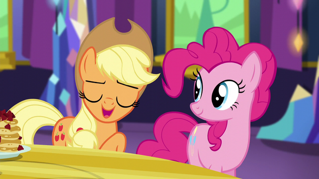 "File:Applejack ""cozier than hot cider on a rainy day"" S5E3.png"