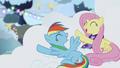 Rainbow Dash and Fluttershy 'Snowflakes aglow' S06E08.png