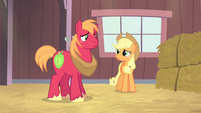 Applejack and Big McIntosh looking at each other S4E13
