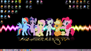 FANMADE Mane six on my desktop