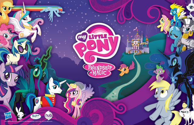 File:FANMADE My Little Pony SDCC 2012 poster.png