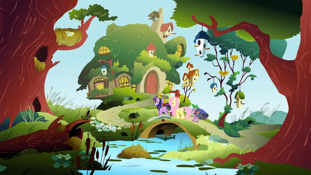 File:Back to Fluttershy's cottage S3E13.png