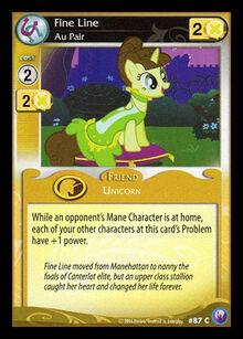 Fine Line, Au Pair card MLP CCG