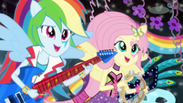 Fluttershy and Rainbow singing EG2