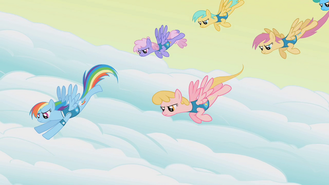 File:Rainbow Dash and the pegasi start over S1E11.png