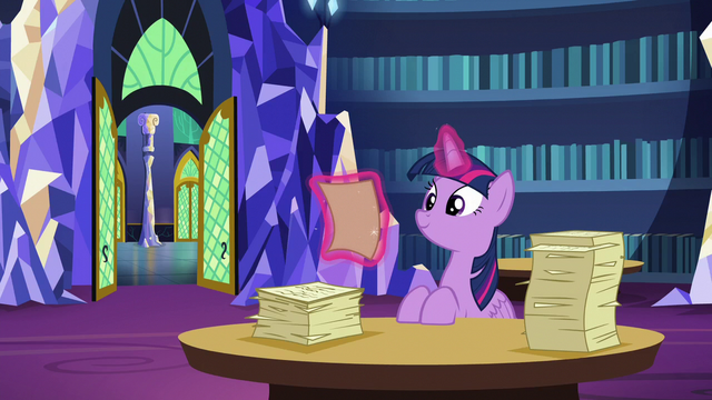 File:Twilight still sorting through friendship lessons S6E1.png