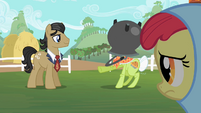 Concerned Apple Bloom looking at Granny Smith S2E12