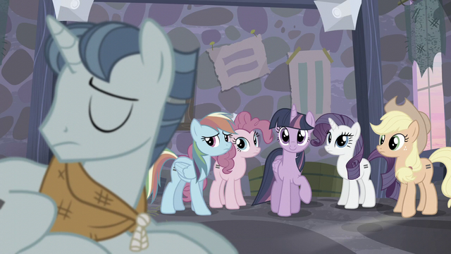 File:Main ponies look at Party Favor S5E02.png