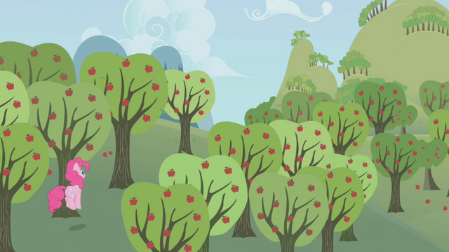 File:Pinkie Pie follows Rainbow Dash through Sweet Apple Acres S1E05.png