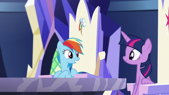 "File:Rainbow ""you said you needed our help with something"" S5E19.png"