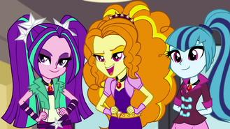 The Dazzlings at the start of the tour EG2
