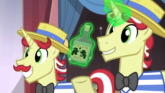 File:Flam smiling and Flim levitating bottle of tonic S4E20.png