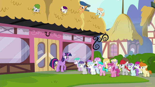 File:Foals staring at Twilight S4E15.png
