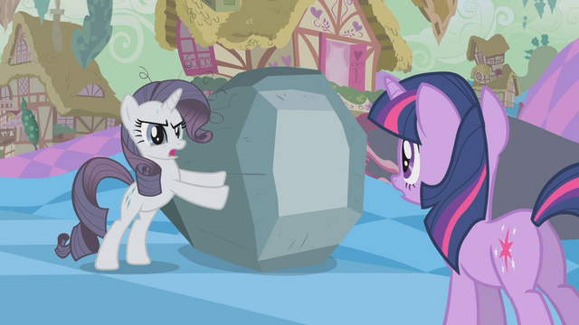 File:Grey Rarity defending rock from Twilight S2E2.png