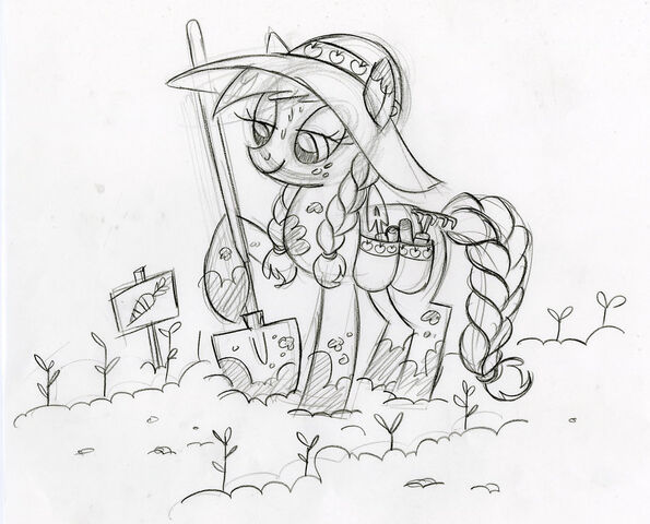 File:Applejack in the Garden Sketch.jpg