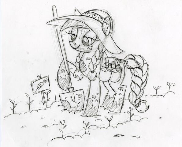 Datei:Applejack in the Garden Sketch.jpg
