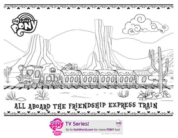 File:Hubworld.com Friendship Express Train coloring page.png