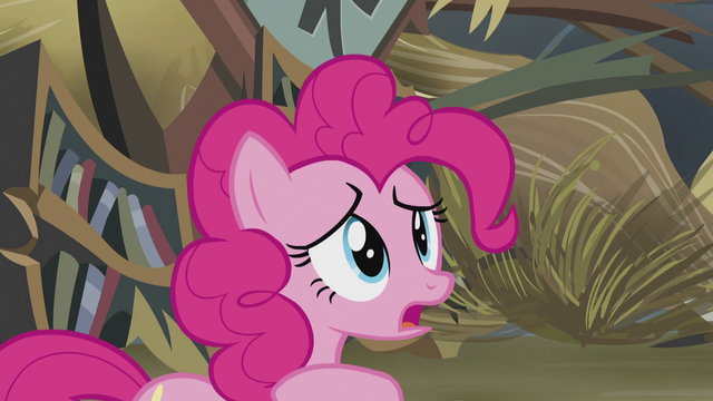 "File:Pinkie ""can't you remember when she was?"" S5E8.png"
