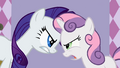 Rarity and Sweetie Belle fighting S2E5.png