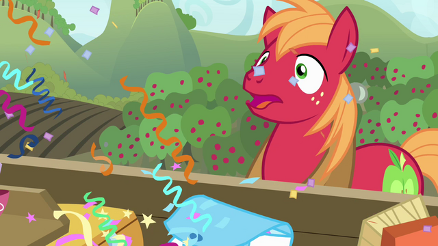 File:Big McIntosh showered with confetti S4E09.png