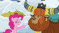 Pinkie Pie and Prince Rutherford in agreement S7E11.png