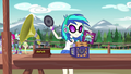 DJ Pon-3 setting up her record player EG4.png