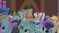 Dr. Hooves holding Rose's face S5E9.png