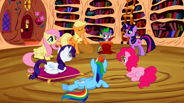 File:Main ponies Group Story S2E3.png