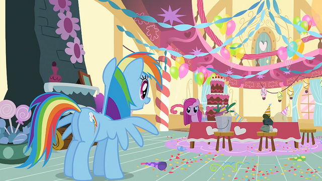 File:Rainbow Dash meeting Pinkie S1E25.png