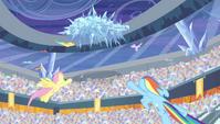 Pegasi fly toward the frozen cloud S4E24