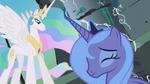 Princess Luna making her choice to Celestia S01E02