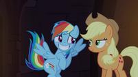Rainbow Dash embarrassed grin S4E03