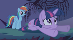 Rainbow Dash saved Twilight from falling S1E02