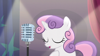 Sweetie Belle taking a calming breath S5E4