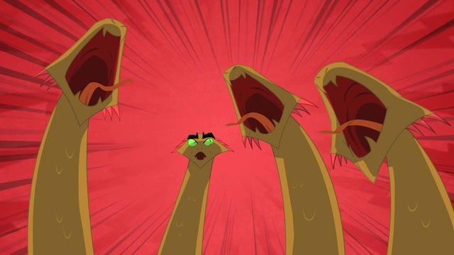 File:Three hydra heads roar as the fourth is left confused S01E15.png